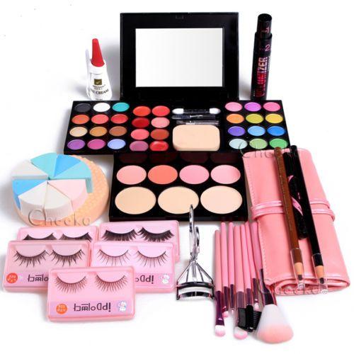 Makeup Kits Gift Set Eyeshadow Foundation Blusher Powder Lip Gloss Eyelash Wb Makeup Gift Sets Makeup Kit Lipstick Gift Set