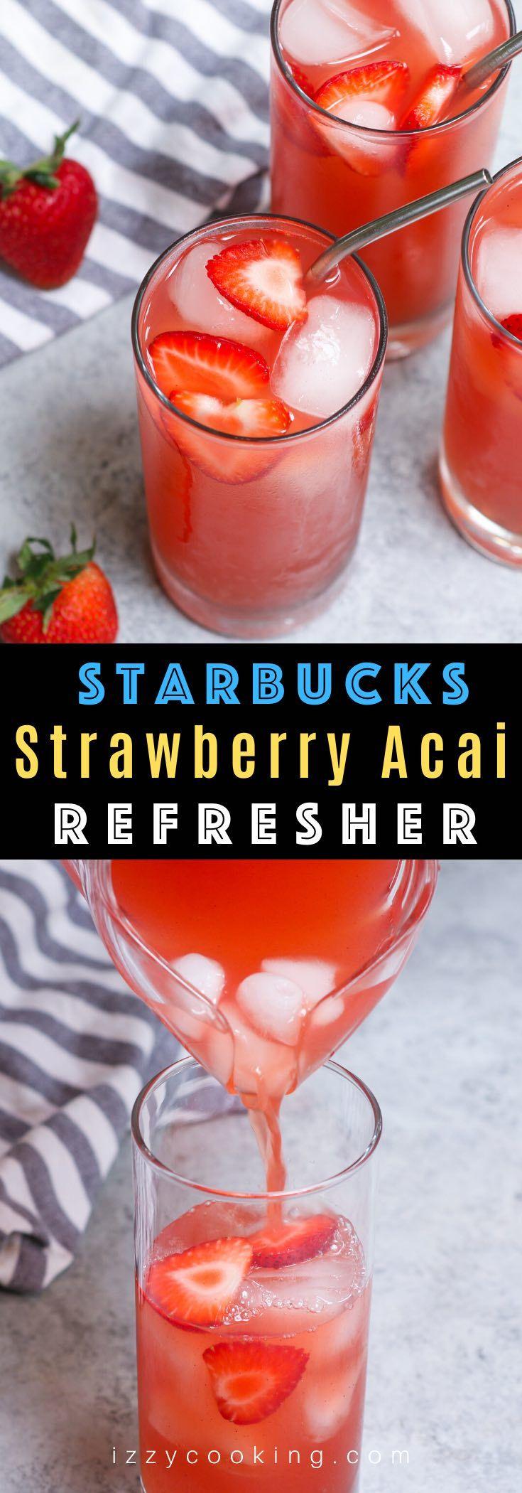 Strawberry Acai Refresher   Recipe in 2020   Strawberry ...