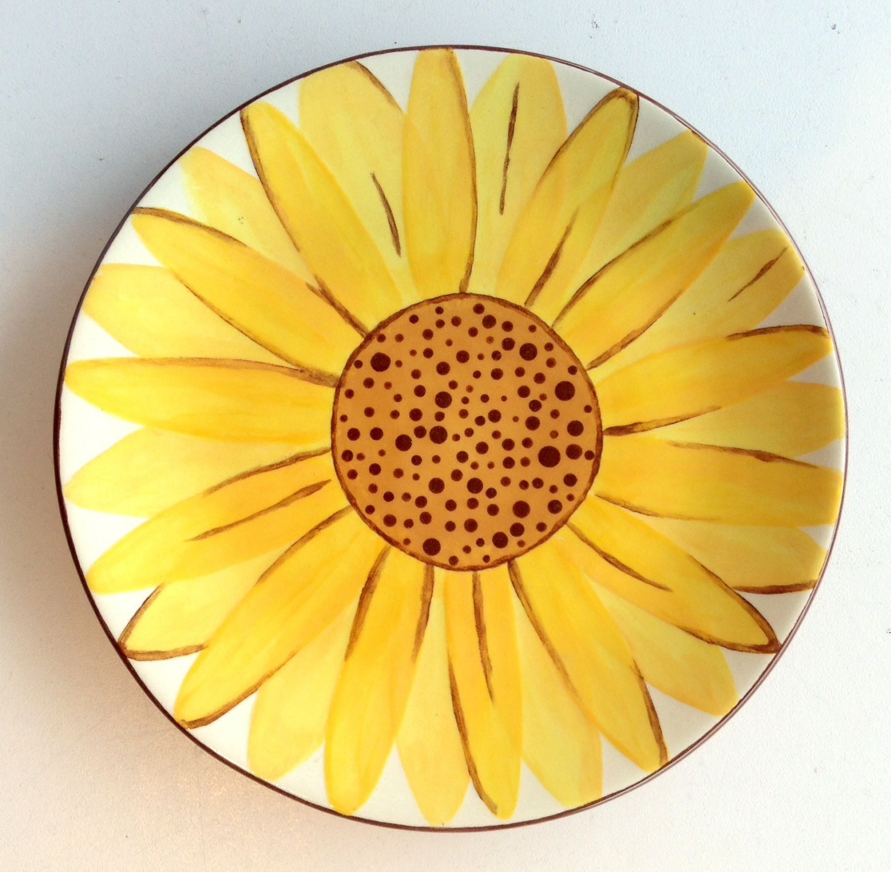 Sunflower Plate | Paint Your Own Pottery | Paint Your Pot | Cary North Carolina  sc 1 st  Pinterest & Sunflower Plate | Paint Your Own Pottery | Paint Your Pot | Cary ...