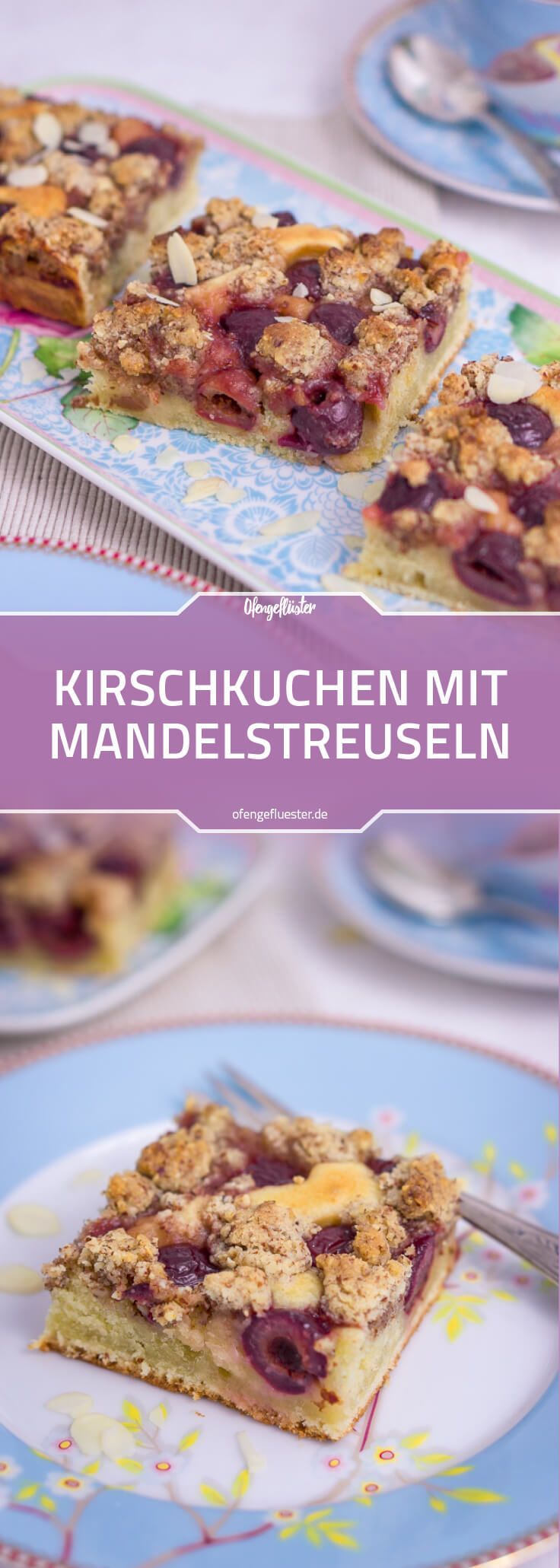 Kirschkuchen mit Mandelstreuseln vom Blech – Blogger Summer Vibes