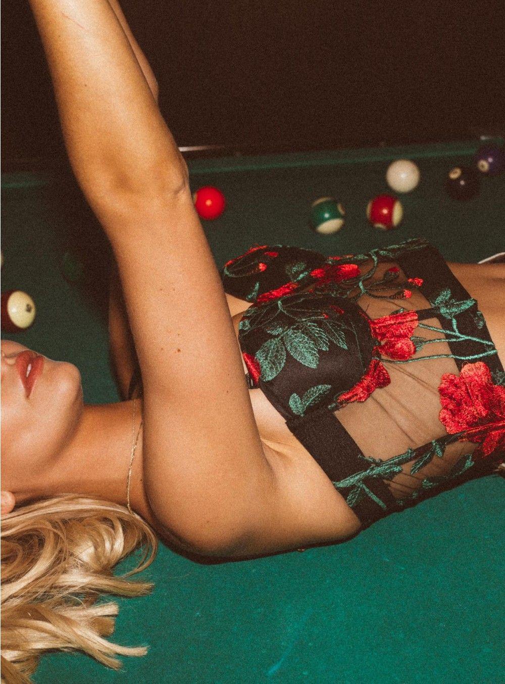 498f32610e1e02 Jagger & Stone Frida Rose Mesh Bustier - left side view | NASHVILLE ...