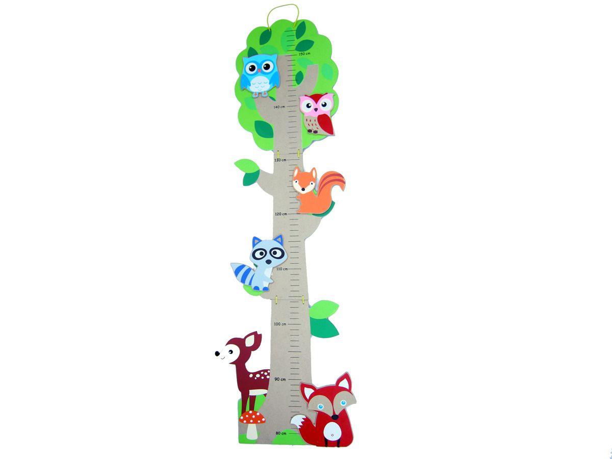 Cheeky Chops Shop Wooden Height Chart Forest Friends 1695