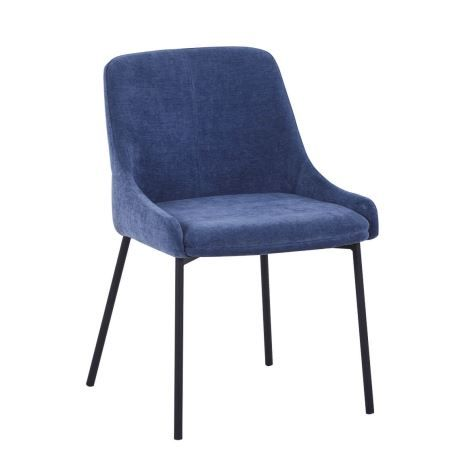 LAINY Upholstered Dining Chair, Navy