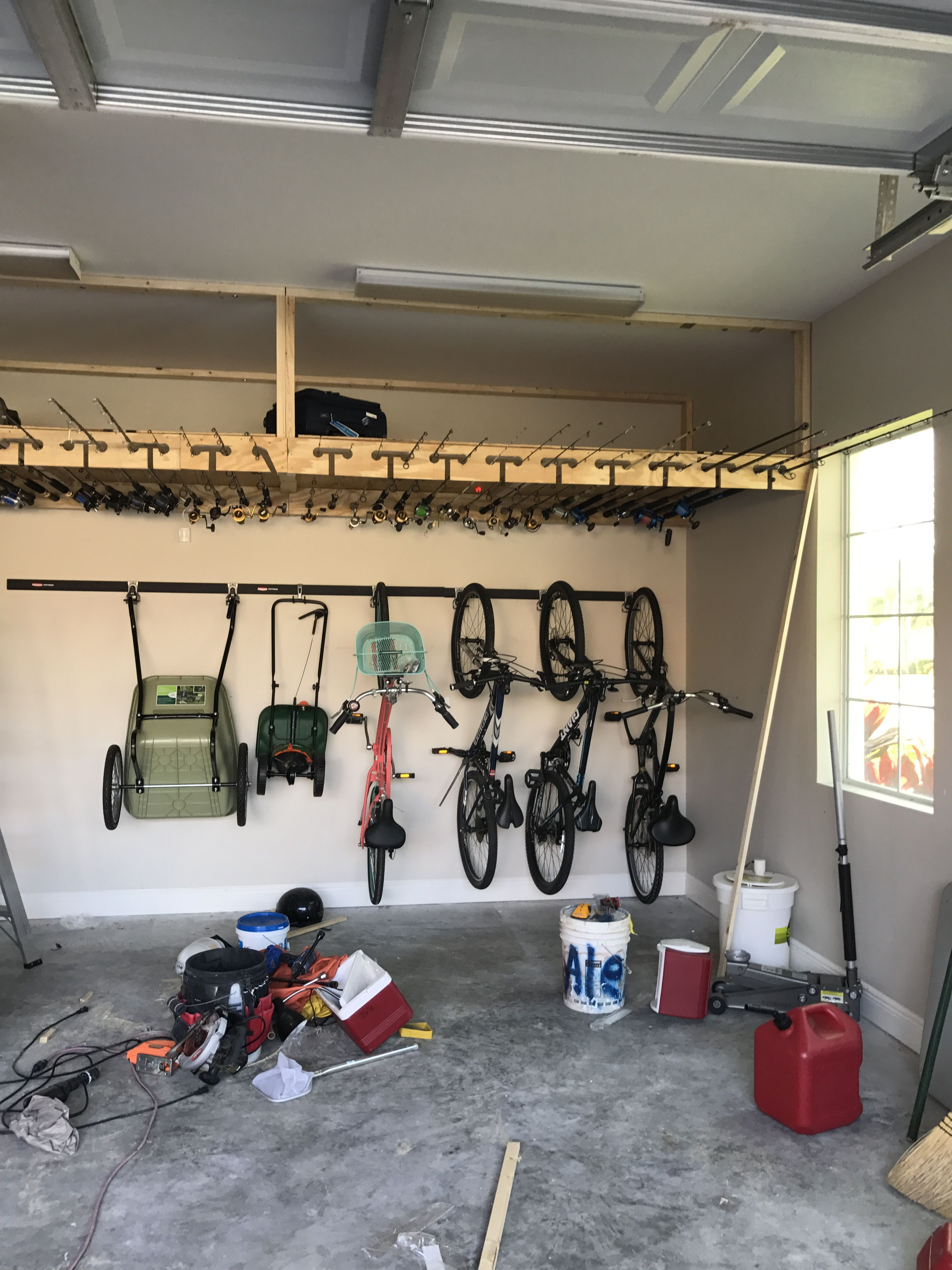 Ceiling Fishing Rod Storage With Over 200 Sf Of Overhead Storage Garage  Project. #fishingrod