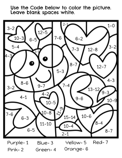 Valentine's Day Color by Code Math! | Valentines day ...