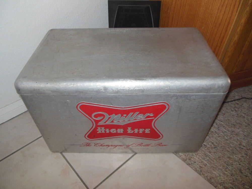 Vintage Antique Miller High Life Metal Cronstroms Beer