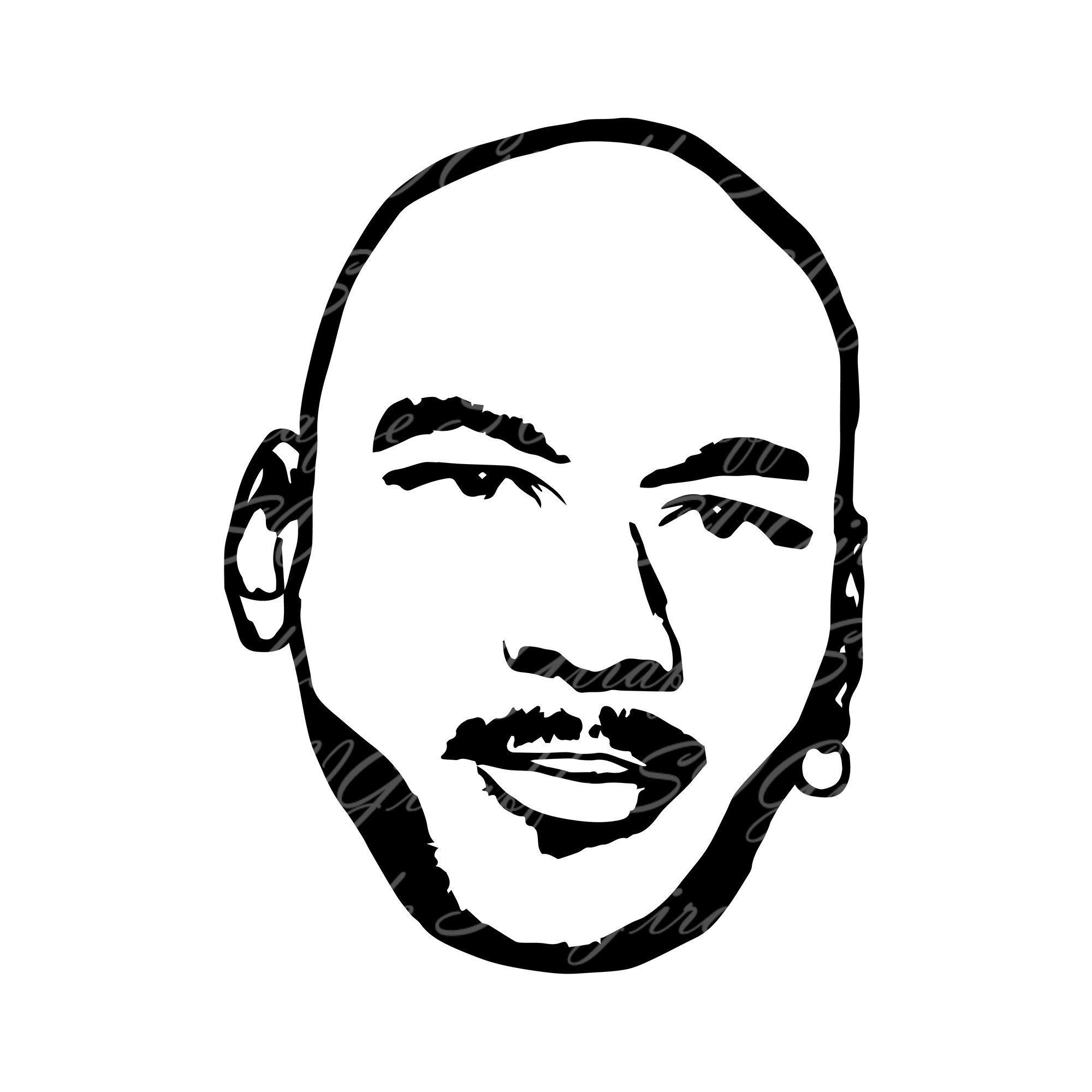 Michael jordan face SVG DXF PNG pdf jpg files michael