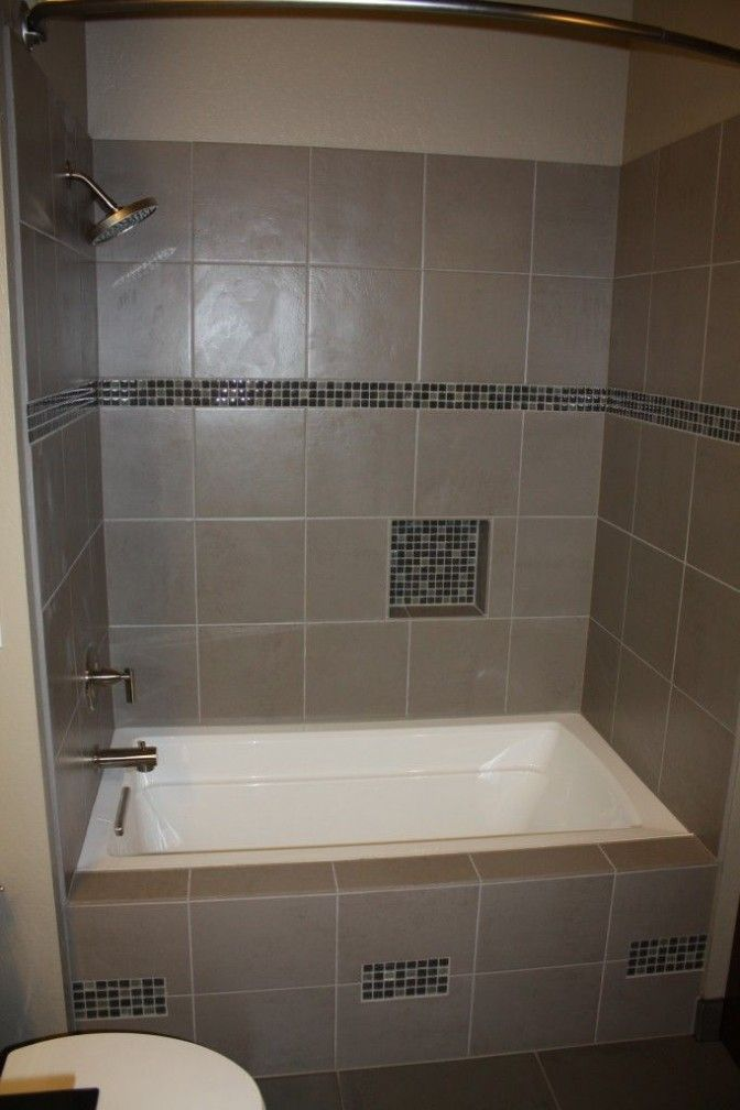 A drop in tub as a shower using | bathroom | Pinterest | Tubs and House