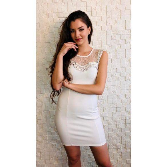 6833f1c80d Fehér köves koktél ruha | Alkalmi ruha ekkor: 2019 | Dresses ...
