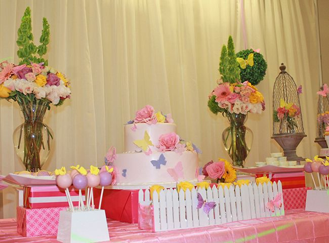 Butterfly baby shower by simple divine event decor for Baby shower butterfly decoration ideas