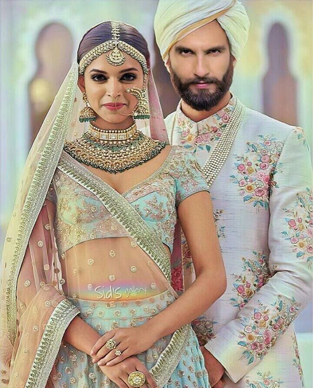 Deepika Padukone And Her New Husband Ranveer Singh Indian Wedding Fashion Indian Bridal Dress Indian Bridal Outfits
