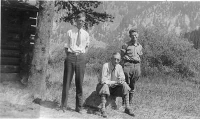 Photo of James W. Schultz and Two Winners of the American Boy Contest