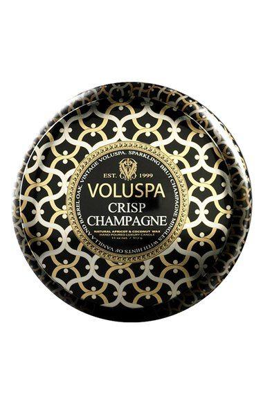 Voluspa Maison Noir Crisp Champagne Maison Metallo Two Wick Candle