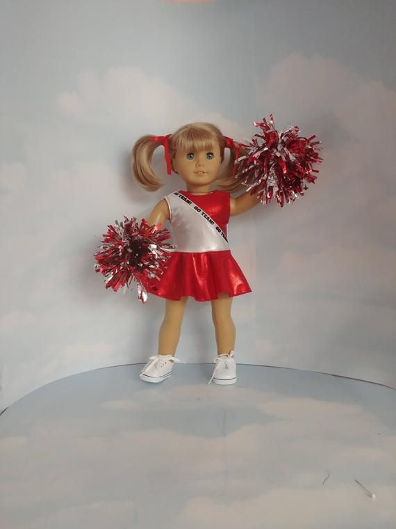 Red and Silver Cheerleader 18 inch doll clothes #18inchcheerleaderclothes