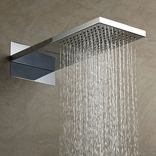 55 23cm A Grade Abs Chrome Finish Rain Shower Head