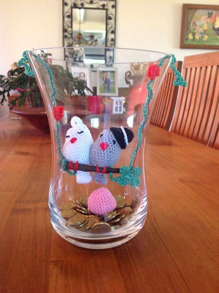 Haken Bruidspaar Vogeltje Crochet Animals Pinterest Cajas