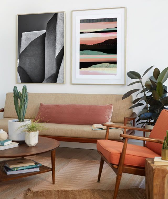 inspired by the desert sun new limited edition art from minted interior design inspiration