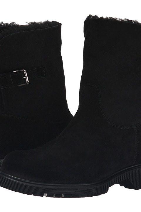 La Canadienne Honey (Black Suede/Sueded Shearling) Women's Dress Boots - La  Canadienne