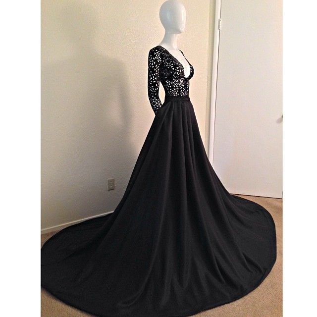 Fenty Baudelaire Parker Laser Cut Gown with Pockets | Gown ...