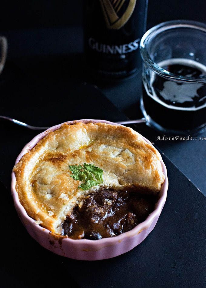 Beef And Guinness Pie Recipe Beef And Guinness Pie Guinness Pies Food