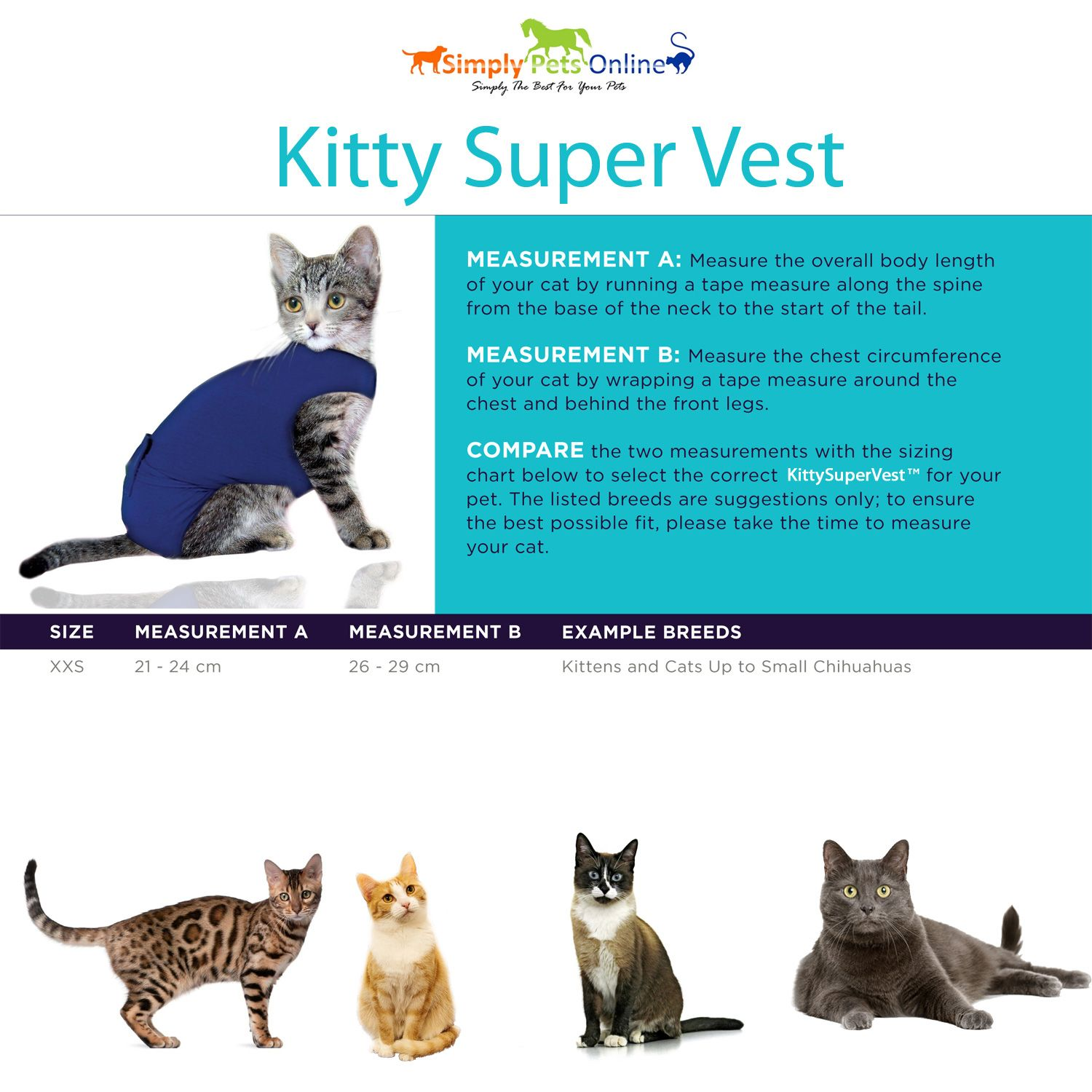 Simply Pets Online Cat Recovery Suit Cat Vest And Medical Pet Shirt The Simply Pets Online Surgical Vest Can Replace The Normal Pets Pets Online Buy A Cat