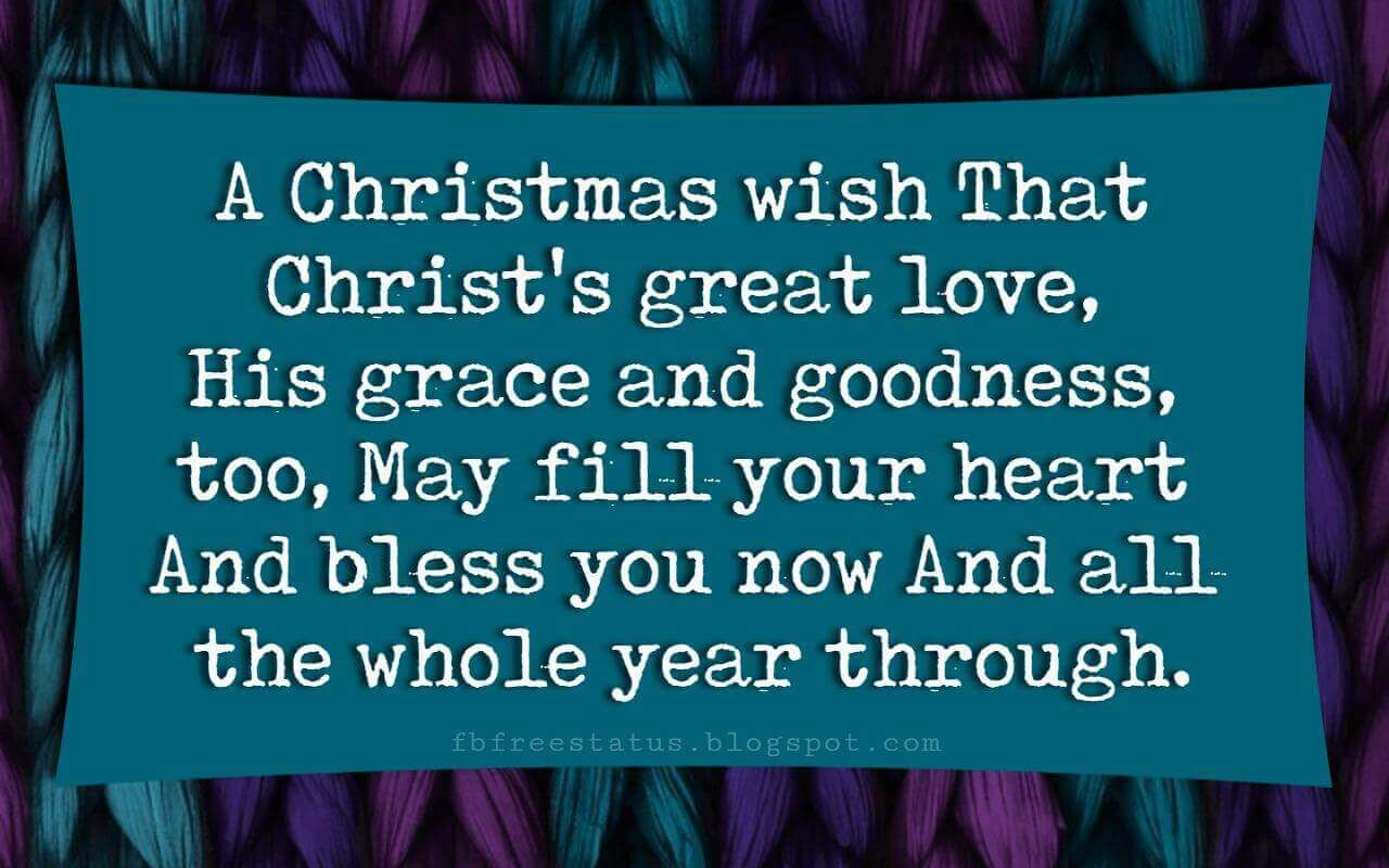 Religious Christmas Card Sayings Quotes Greetings Messages