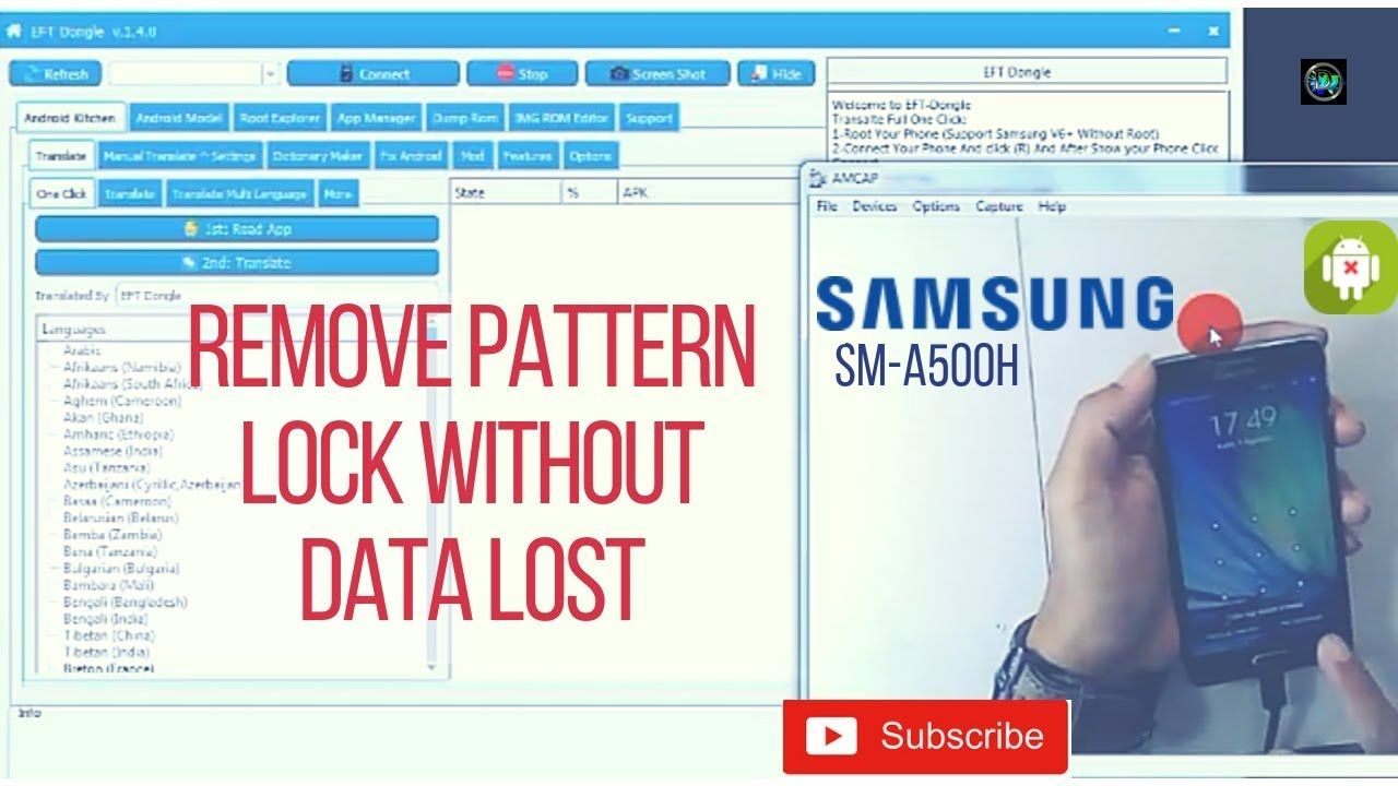 Galaxy A5 2015 Remove Pattern Without Data Lost Via Eft Dongle