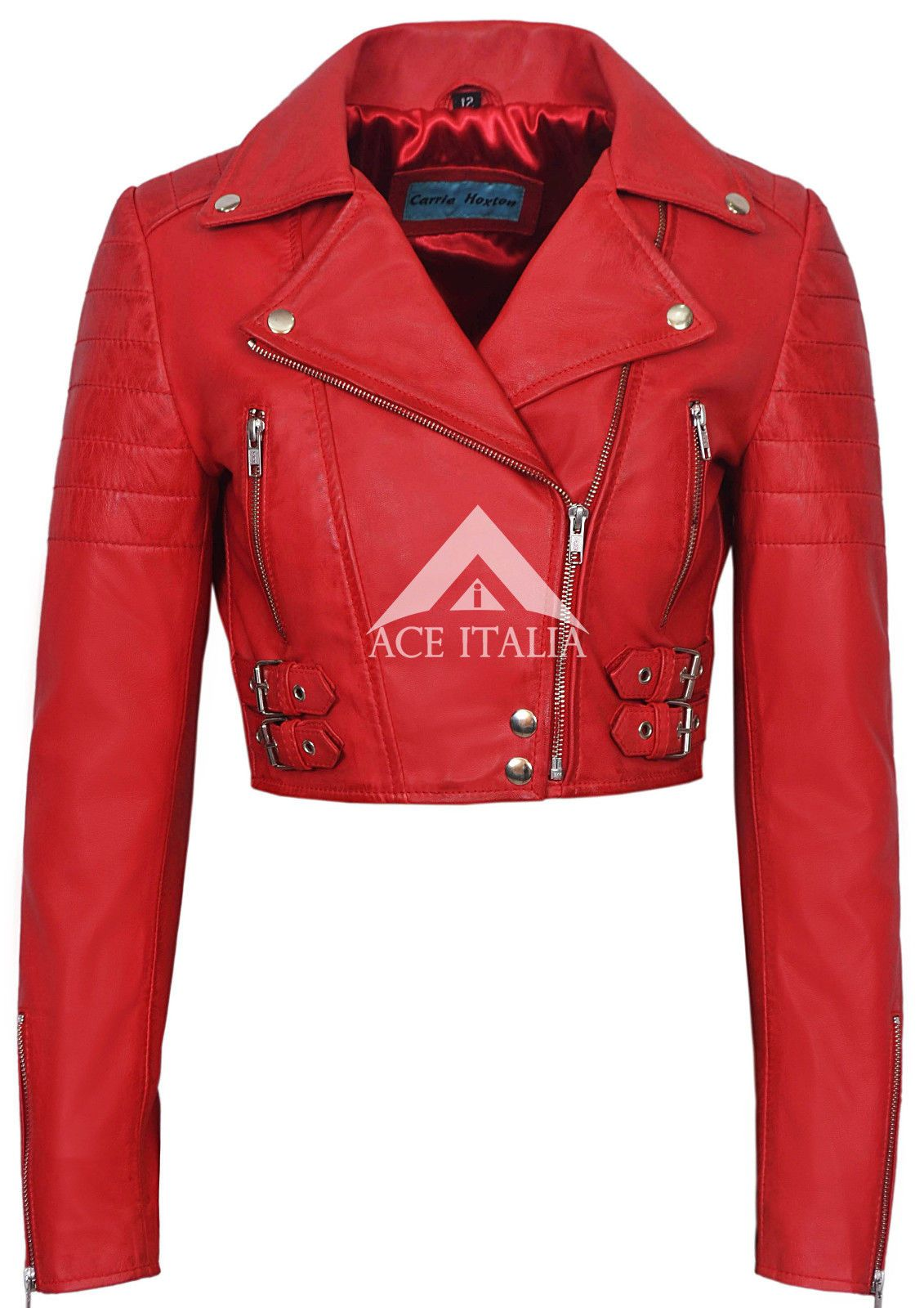 Ladies Leather Jacket Red Cropped Fashion Fitted Red Biker Style Napa Jacket Leather Jackets Women Leather Jacket Red Jacket Leather [ 1600 x 1131 Pixel ]