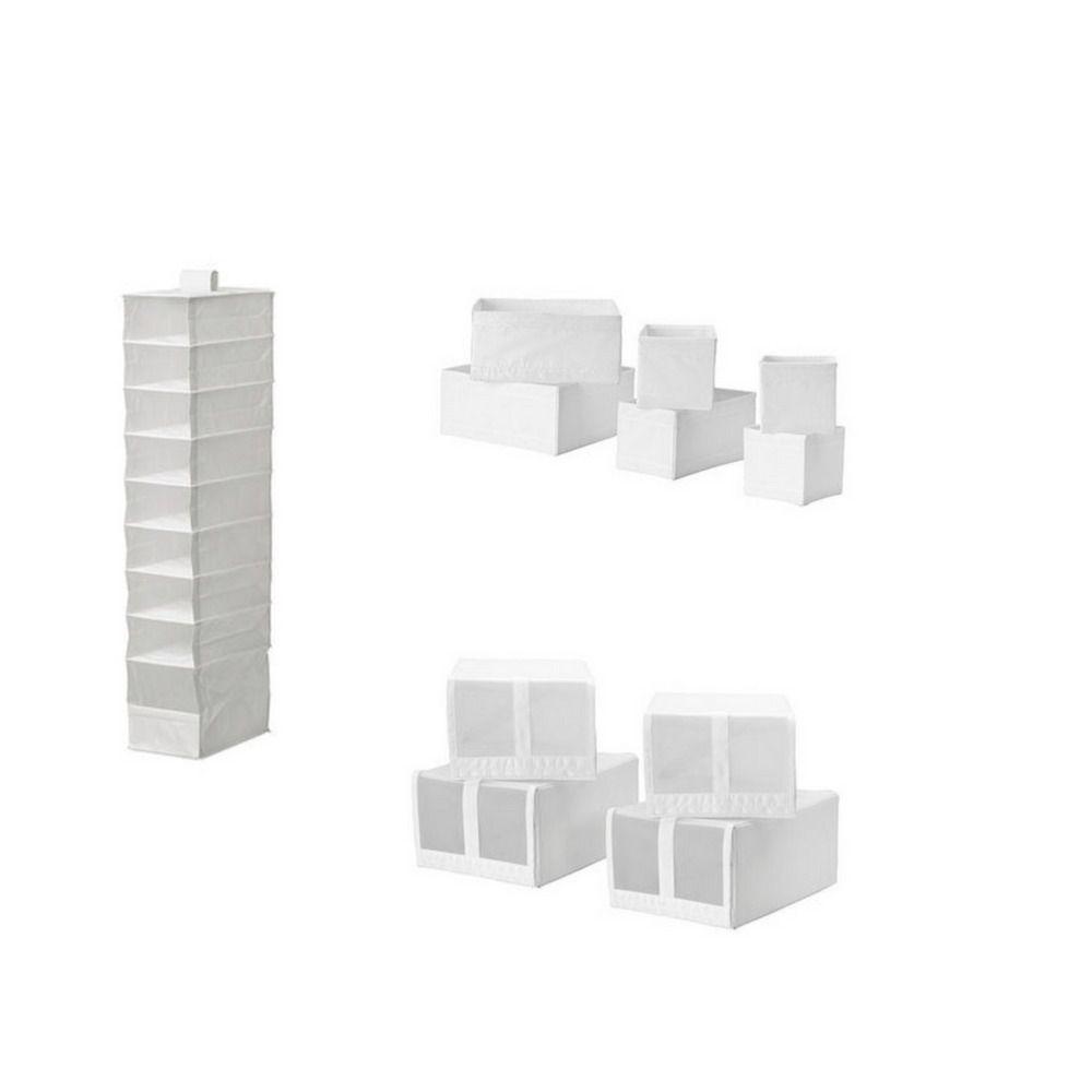 Ikea Skubb Collection 4 X Shoe Box 6 Storage 9 Compartment White