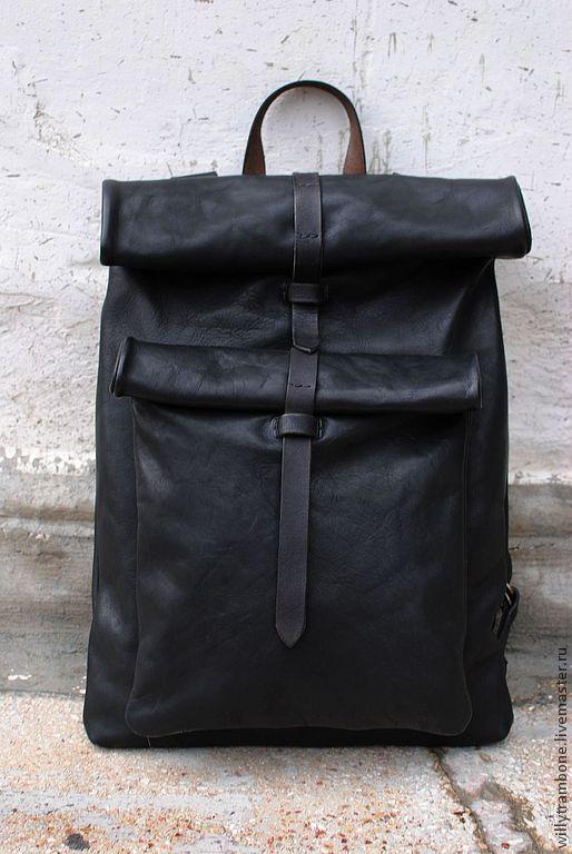 6765a58a5060 Купить Рюкзак прямоугольный - Кожаная сумка, кожаный рюкзак, большой  размер, женский рюкзак, мужской рюкзак