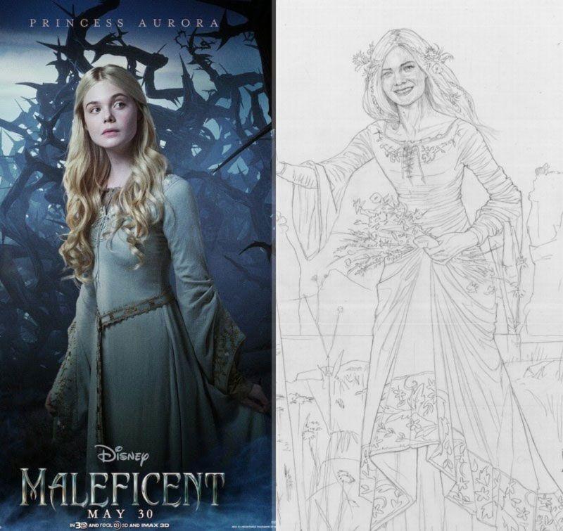 Elle Fanning Aurora Costume Maleficent Aurora Elle...