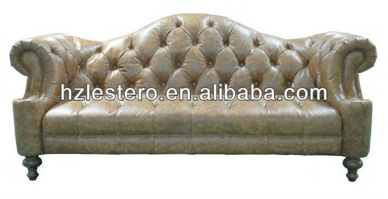 French Style Modern Leather Sofa