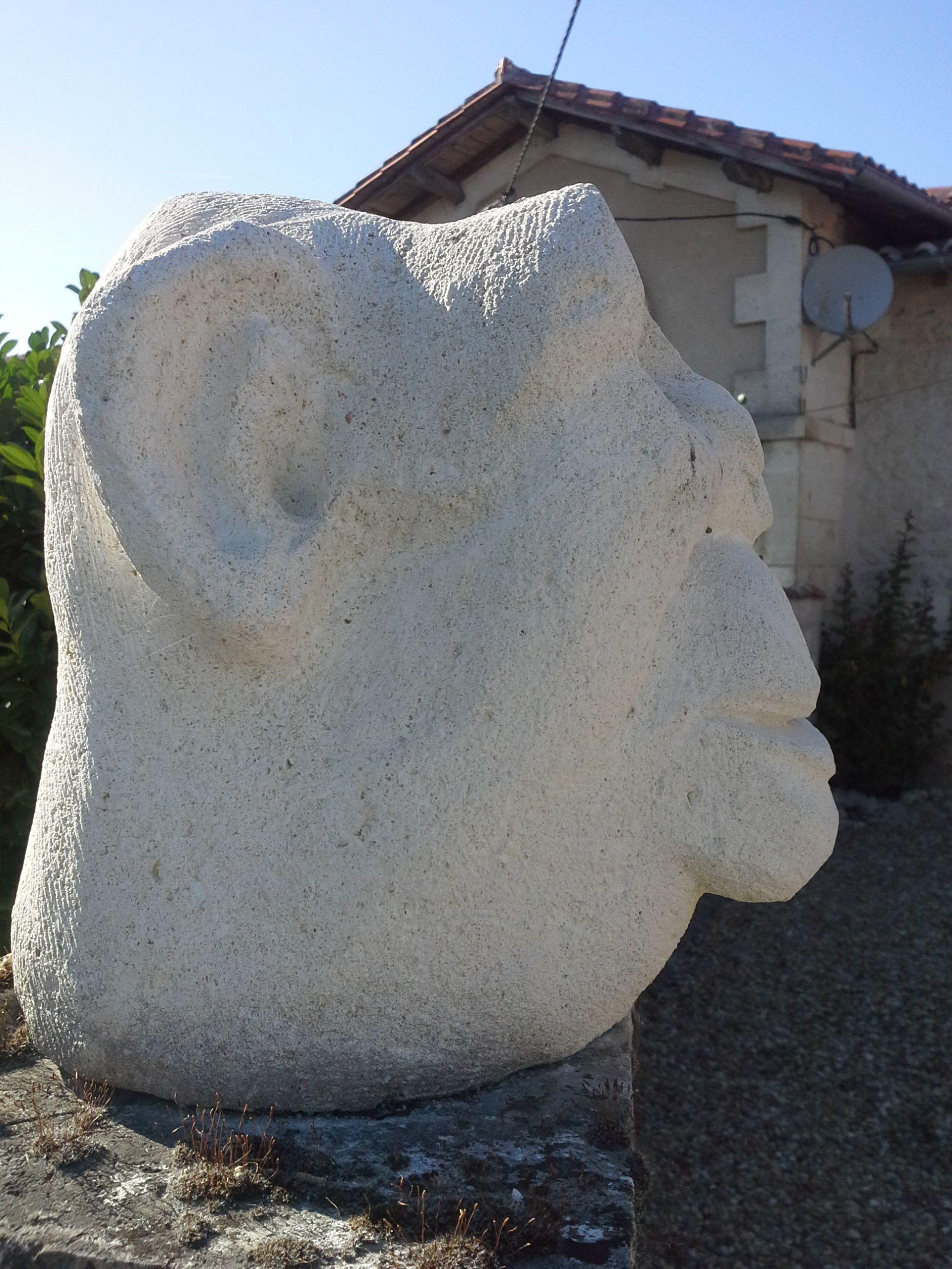 Roger Adams Sculpture Cro Magnon Man Side View