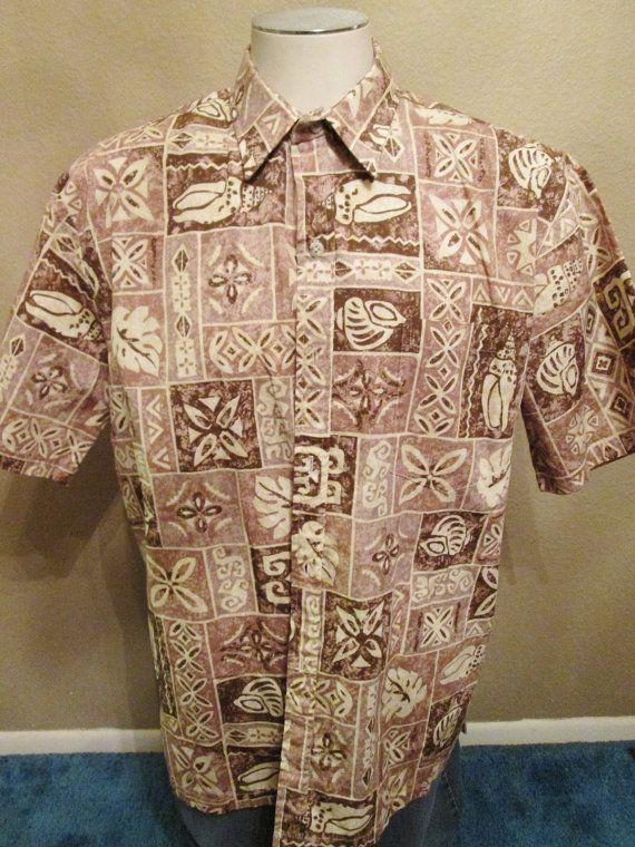 f2f5d4f0 Cooke Street Honolulu Men's Brown Hawaiian Shirt Size by BADTIQUE ...