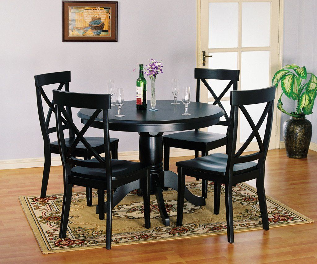 Table 4 Chairs Dining Room Table Decor Dining Table Black Dining Table Bases