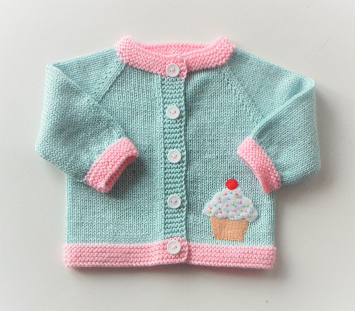 DIY embroidered felt applique on knit sweater | Knitted baby