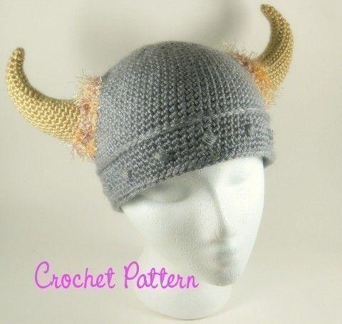 someone make this for me? Barbarian Viking Beanie Crochet Pattern ...