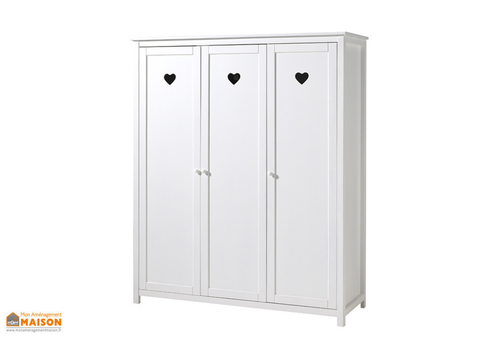 Armoire Penderie Bois Armoire Penderie Bois Massif Dacacia Couleur Bois Blanc Nature Tall Cabinet Storage Storage Cabinet Home