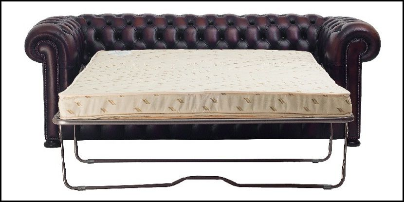 Ordinaire Leather Chesterfield Sleeper Sofa