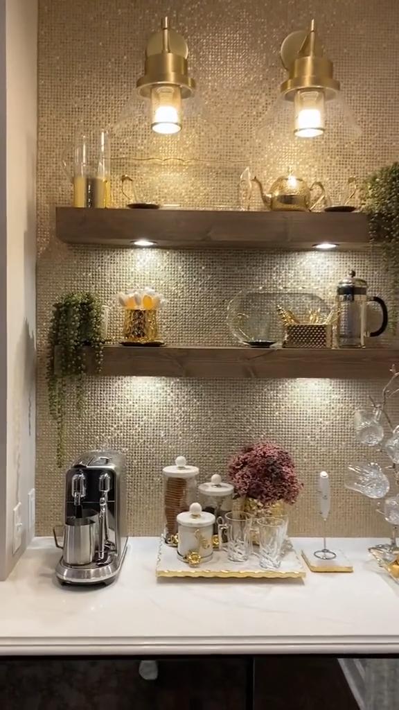 Stylish Home Coffee Station inspo  ☕
