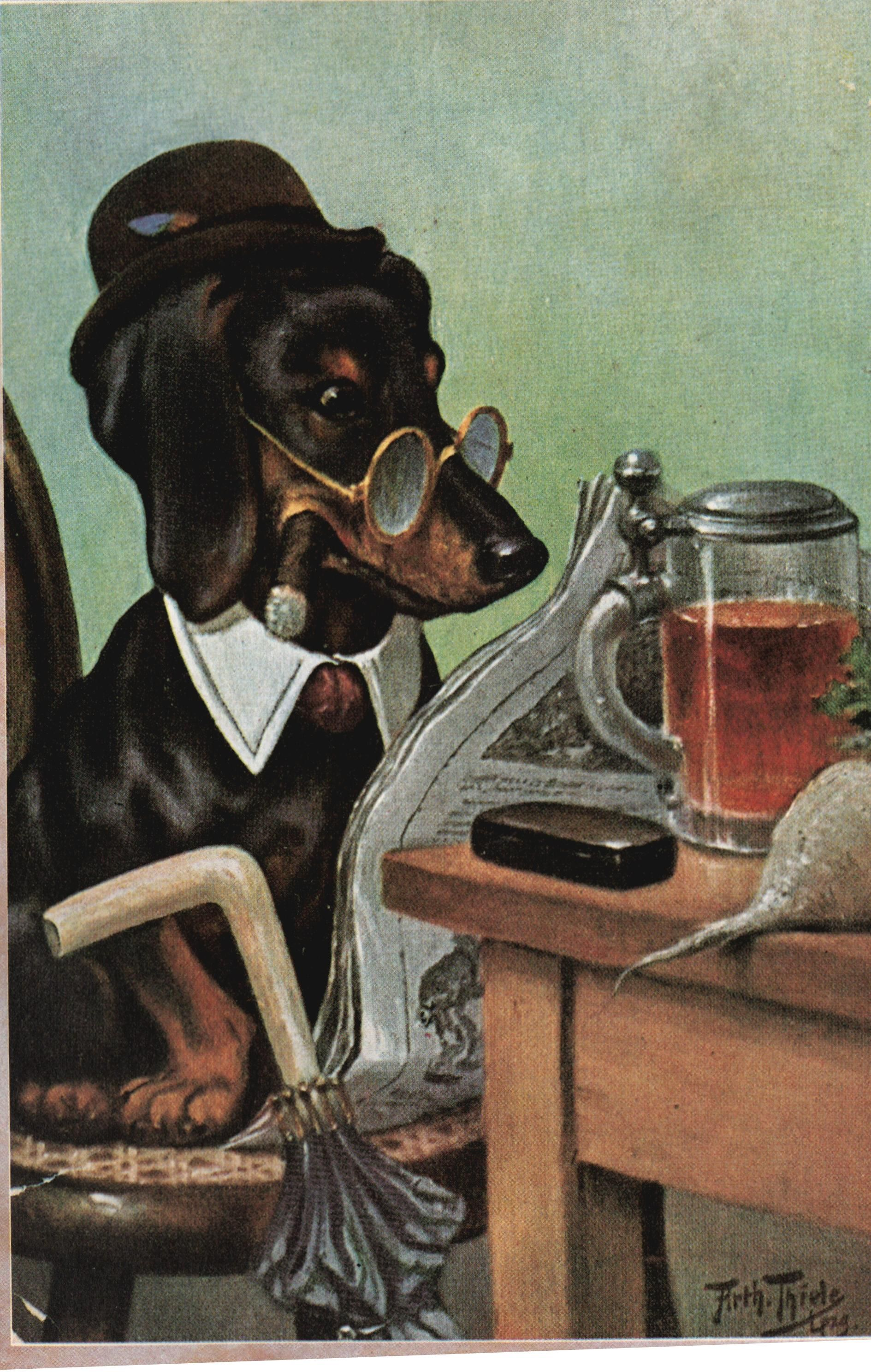 Arthur Thiele Ill Pc Dog Kneipe 43138557801 O Dogs Vintage Retro Pets Animals Pups Puppies Photo Art Canin Vintage Dachshund Dachshund Art Doxie Art