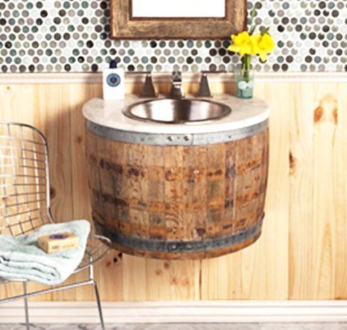 altes whiskey fass wird zum waschbecken haushalt stehtisch fass und waschbecken malen