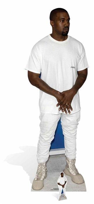 Kanye West T Shirt Style Lifesize Cardboard Cutout Standee Stand Up Tshirt Style Shirt Style Kanye West