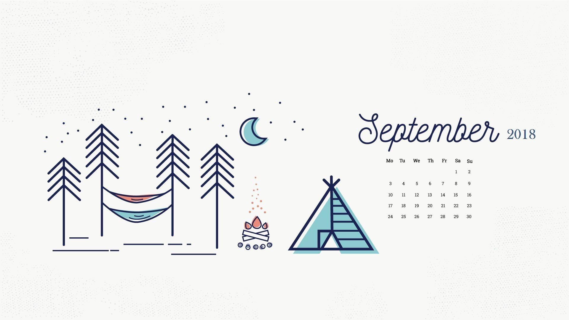 September 2018 Calendar Wallpapers Desktop Wallpaper Calendar Calendar Wallpaper Desktop Calendar