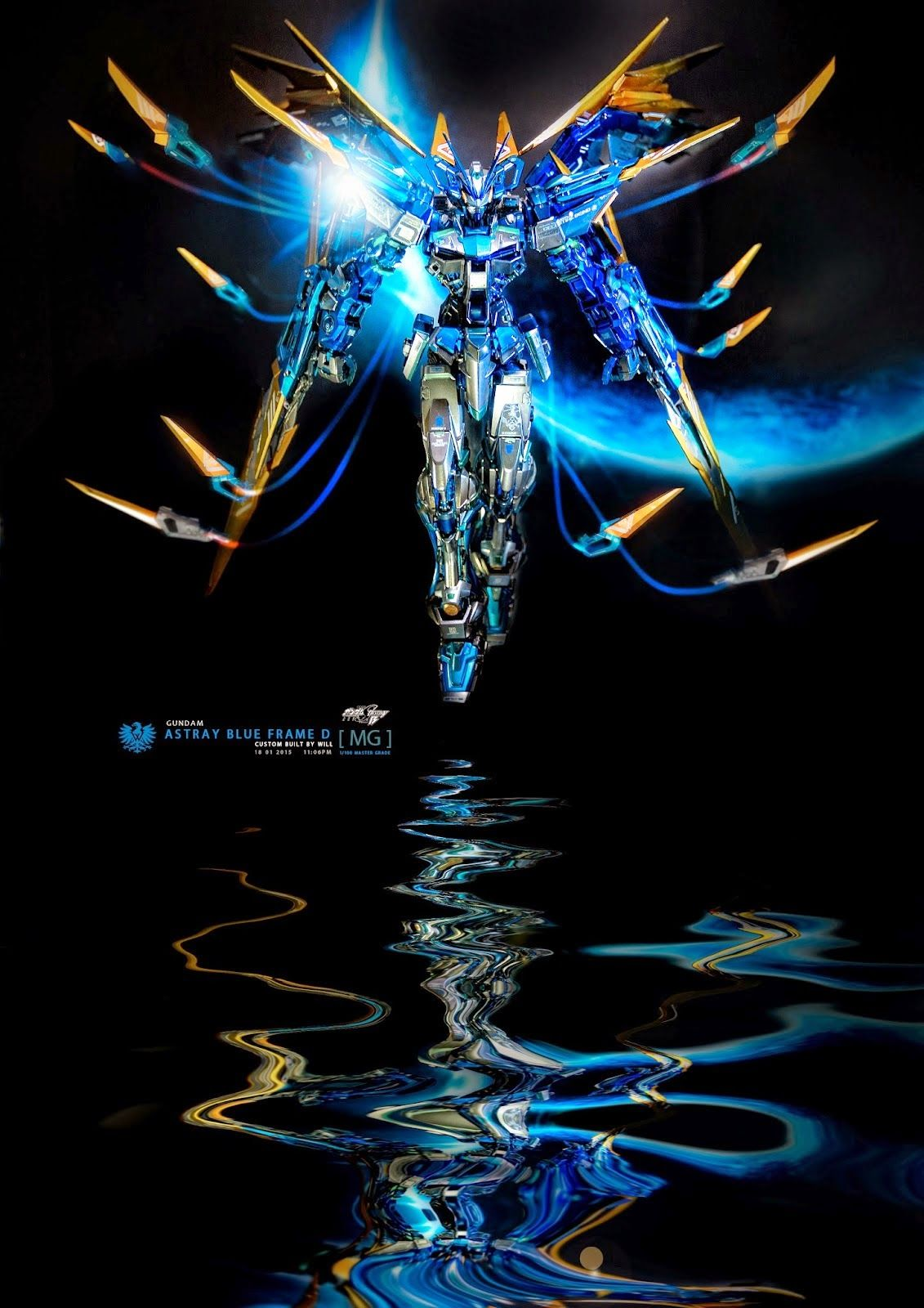 Painted Build Mg 1 100 Gundam Astray Blue Frame D Metallic Finish