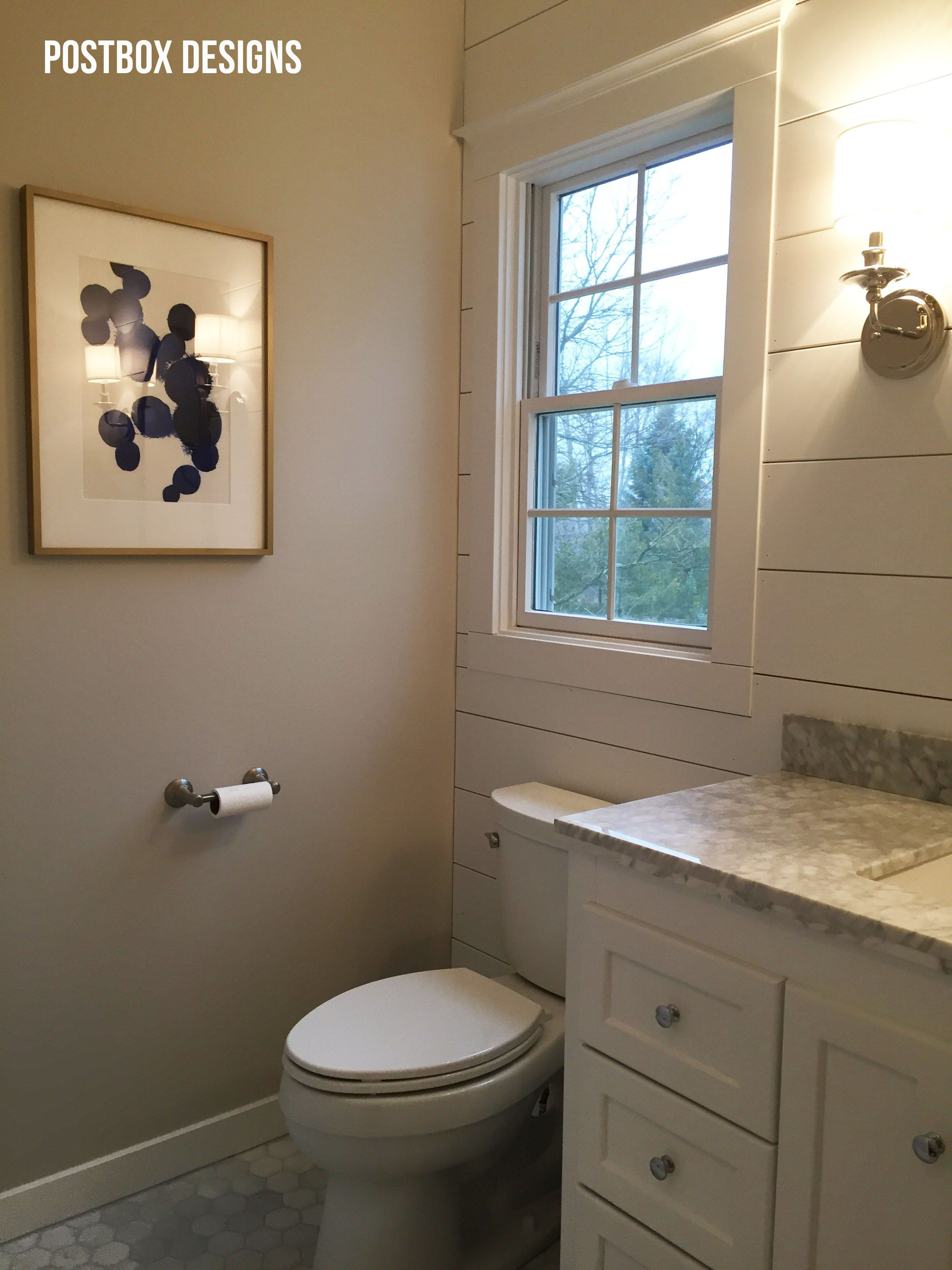 BIG REVEAL Update A Builder Basic Bathroom Pinterest Ship Lap - Fixer upper bathroom remodels