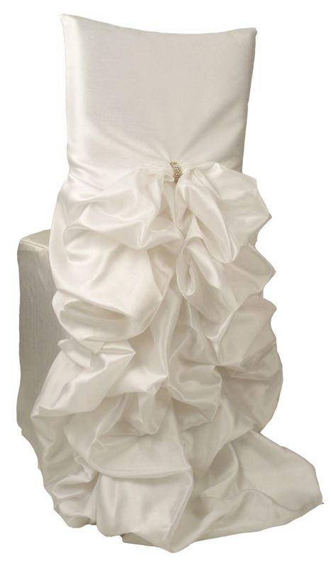 Iridescent Taffeta White Diana Chiavari Chair Cover