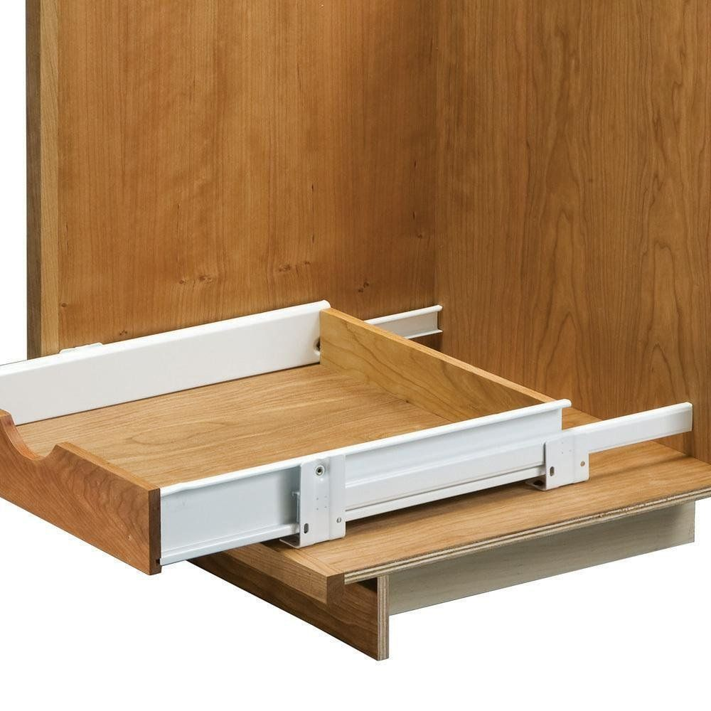 22 Floor Mounted Slides Pantry Pull Out With Metal Sides Cabinet And Furniture Drawer