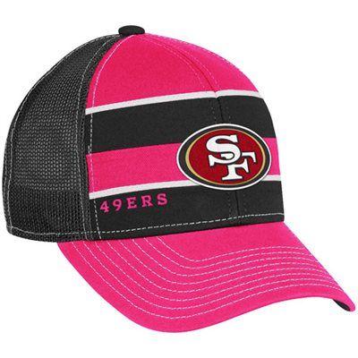 Reebok San Francisco 49ers Ladies Black-Pink Breast Cancer Awareness  Adjustable Trucker Hat 811ca6590