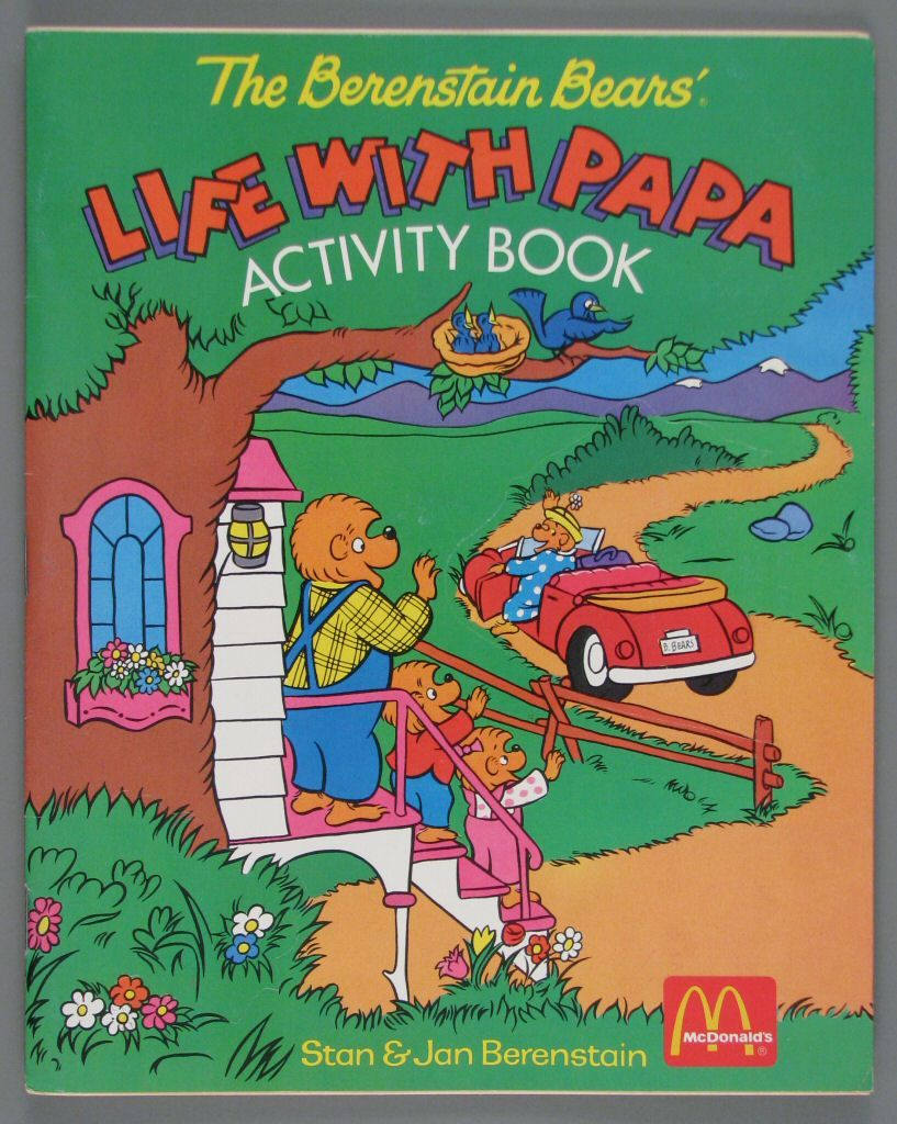 Life with Papa coloring and activity book | Berenstain Bear Products ...
